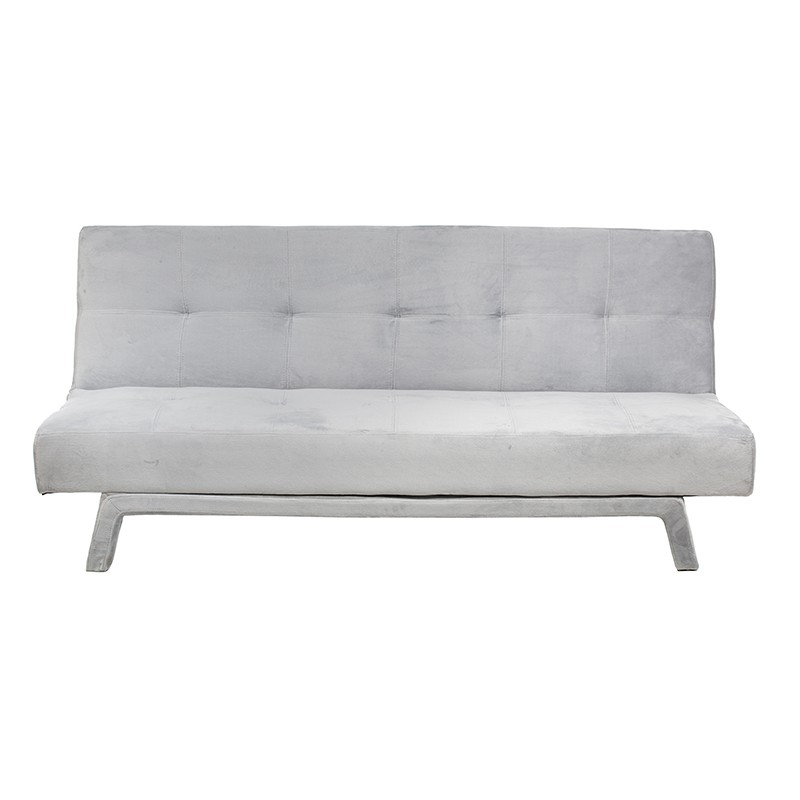 Modern sofa bed with double stitching and high density velvet foam,wooden frame and legs
